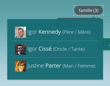 La famille dans la timeline